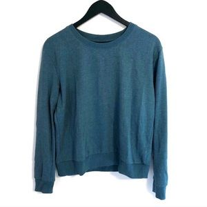 H&M Divided Teal Crew Neck Pullover Sweater